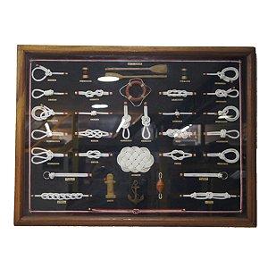 Quadro Arte Naval Nó Marinheiro 80 x 60cm