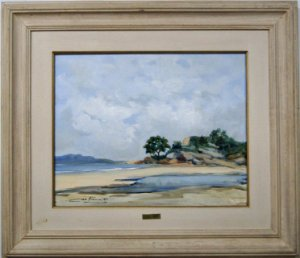 Quadro Pintura a Óleo Praia - Ciro 67x76cm