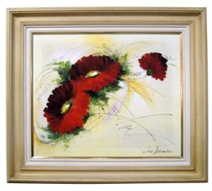 Quadro Pintura a Óleo Flores - Linda Scheraiber