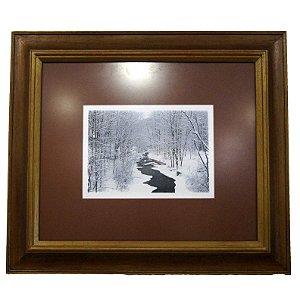 Quadro Fotografia Rio Congelado 61a x 53l cm