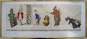 Gravura Aquarela Boris O'Klein (1893 a 1985) (51x23)
