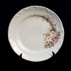 Prato de Sobremesa em Porcelana Schmidt Pintado a Mão