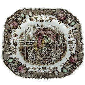 Prato Decorativo Em Porcelana Nativa Americana Johnson Bros