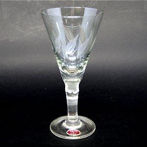 Taça para Licor Em Cristal Lapidado a Mão