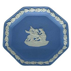 Prato Decorativo em Cerâmica Inglês WedgWood JasperWare