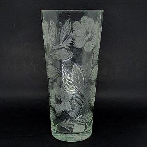 Vaso de Flor em Vidro Florido