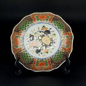 Prato de Parede em Porcelana Decorativo Japonês