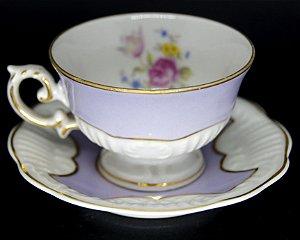 Xícara De Café em Porcelana Schmidt Motivos Flores