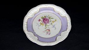 Prato de Sobremesa em Porcelana Schmidt Motivo flores