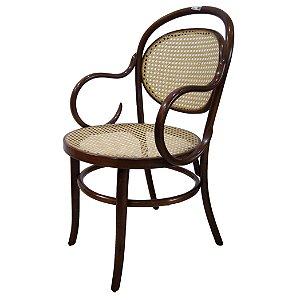 Cadeira Austríaca De Palhinha Com Braço