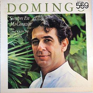 LP - Placido Domingo - Siempre En Mi Corazón - 1984