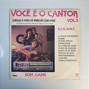 LP - Você É O Cantor Vol. 5 - Karaokê - 1984