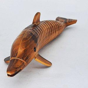 Golfinho Decorativo em Madeira