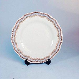 Prato de Sobremesa em Porcelana Grindley England Decorado