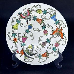 Prato de Sobremesa em Porcelana Chinesa Pintado a Mão
