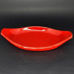 Refratário Vermelho Oval em Cerâmica Esmaltado