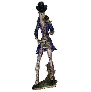 Escultura Em Cerâmica Homem Com Flores - A.Ciolli