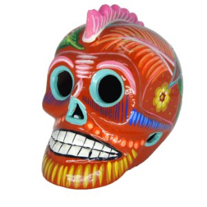 Caveira Mexicana Decoração Artesanal em Cerâmica
