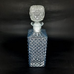 Garrafa em Cristal com Bico de Jaca cor Azul