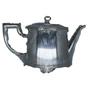 Bule p/ Chá em Banho de Prata 'Fracalanza' c/ Base em Alpaca