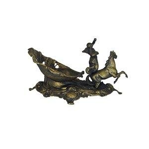 Escultura Sereia Carruagem em Bronze