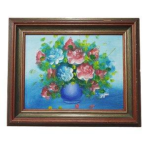 Quadro 'Vaso de Flores' Artista Desconhecido