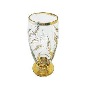 Vaso Alto c/ Lapidação e Banho de Ouro