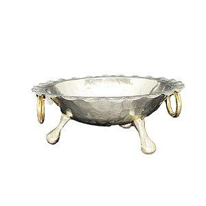Porta-Caviar Banho de Prata S/Tampa