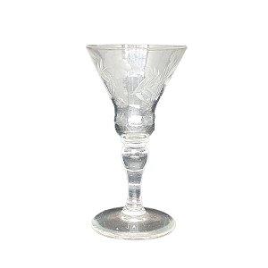 Taça P/ Licor em Cristal Lapidado