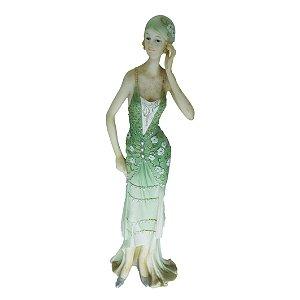 Boneca Inglesa Bela Época Art Deco em Resina