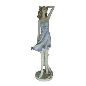 Escultura em Resina c/ Base 'Giuseppe Armani'