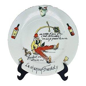Prato Decorativo em Porcelana 'La Chanson Freddy' P.II