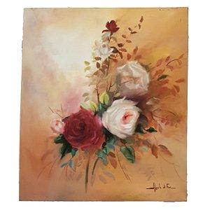 Quadro Angelo Di Fiori Rosas brancas e Vermelhas