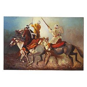 Quadro Cavalaria Guerra Árabe Artista Leônidas