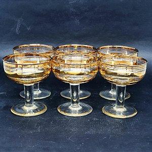 Jogo de 6 Taças em Cristal p/Martini