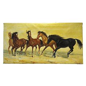 Quadro 'Cavalos no Campo' Alfonse Laffete