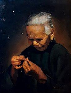 """Quadro """"Senhora Chinesa """" Artista Desconhecido"""