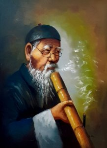 """Quadro """"Senhor Chinês"""" Artista Desconhecido"""