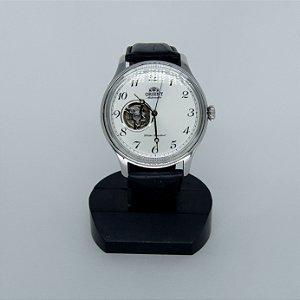 Relógio Orient F6T2-UAD0 Masculino Correia de Couro Preto