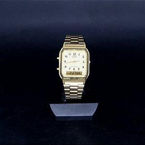 Relógio Unissex Casio Analógico/Digital Dourado AQ-230GA-9BM