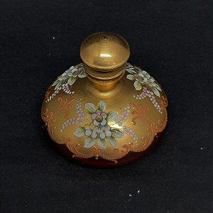 Perfumeira Bohemia Tcheco Rubi Pintura em Ouro 24k