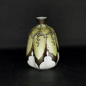 Vaso em Porcelana Italiano com Banho de Prata