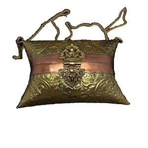 Bolsa em Bronze Latão e Cobre Trabalhado a Mão Marroquina