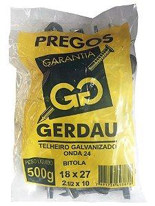 PREGO TELHEIRO 2.1/2X10 500G GERDAU