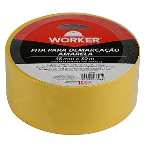 FITA DEMARCAÇÃO AMARELA 48X30M 342688 WORKER