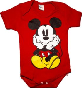 Body Bebê Menino Mickey