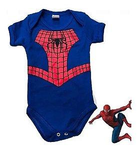 Body Bebê Menino Homem-Aranha