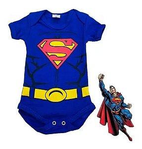 Body Bebê Menino Superman