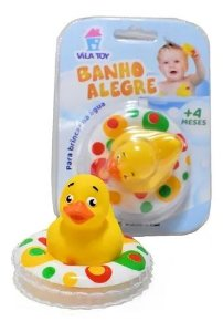 Patinho De Borracha Banho Alegre Vila Toy