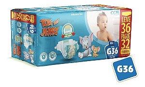 Fralda Descartável Tom E Jerry Mega G
